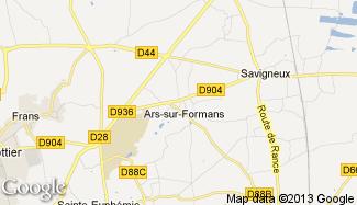 Plan de Ars-sur-Formans