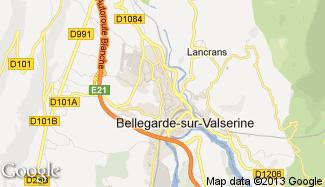 Plan de Bellegarde-sur-Valserine
