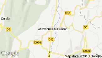 Plan de Chavannes-sur-Suran