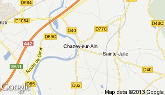 Plan de Chazey-sur-Ain