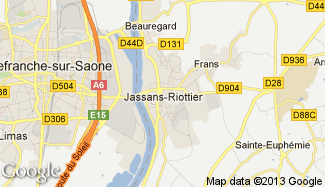 Plan de Jassans-Riottier