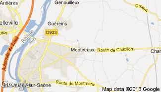 Plan de Montceaux