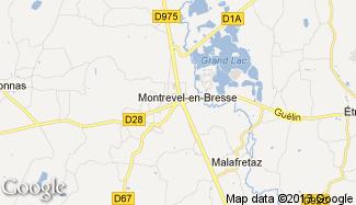 Plan de Montrevel-en-Bresse