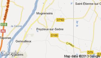 Plan de Peyzieux-sur-Saône