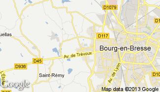 Plan de Saint-Denis-lès-Bourg