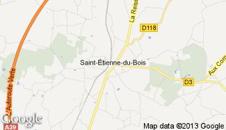 Plan de Saint-Étienne-du-Bois
