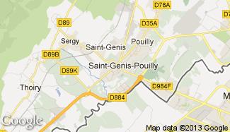 Plan de Saint-Genis-Pouilly
