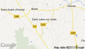 Plan de Saint-Julien-sur-Veyle