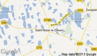 Plan de Saint-Nizier-le-Désert