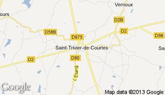 Plan de Saint-Trivier-de-Courtes