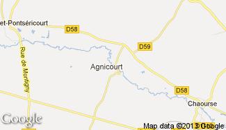 Plan de Agnicourt-et-Séchelles