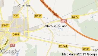 Plan de Athies-sous-Laon