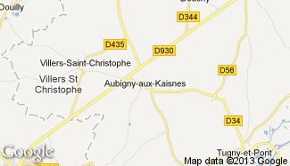 Plan de Aubigny-aux-Kaisnes