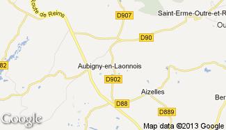 Plan de Aubigny-en-Laonnois