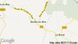 Plan de Baulne-en-Brie