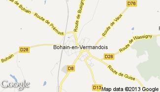 Plan de Bohain-en-Vermandois