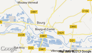 Plan de Bourg-et-Comin
