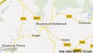 Plan de Bruyères-et-Montbérault