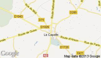 Plan de La Capelle