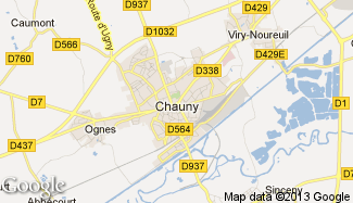 Plan de Chauny