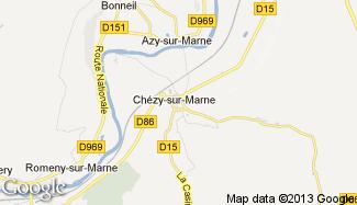 Plan de Chézy-sur-Marne