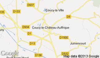 Plan de Coucy-le-Château-Auffrique