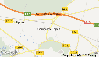 Plan de Coucy-lès-Eppes