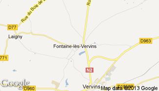 Plan de Fontaine-lès-Vervins