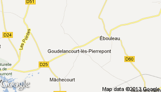 Plan de Goudelancourt-lès-Pierrepont