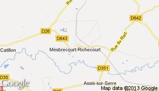 Plan de Mesbrecourt-Richecourt