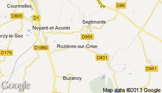 Plan de Rozières-sur-Crise