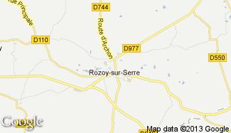 Plan de Rozoy-sur-Serre