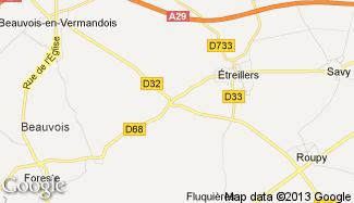 Plan de Vaux-en-Vermandois
