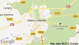 Plan de Villers-Cotterêts