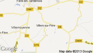 Plan de Villers-sur-Fère