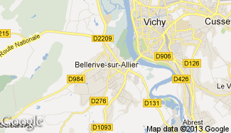Plan de Bellerive-sur-Allier