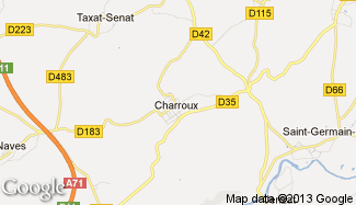 Plan de Charroux