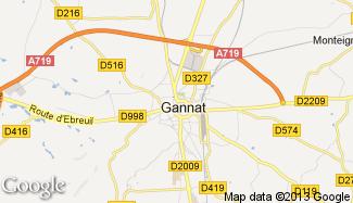Plan de Gannat