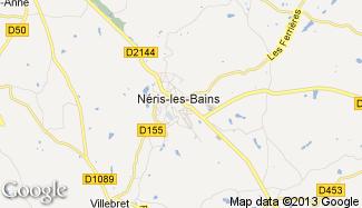 Plan de Néris-les-Bains