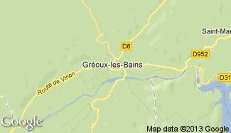 Plan de Gréoux-les-Bains