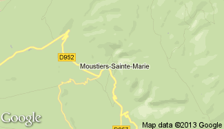 Plan de Moustiers-Sainte-Marie