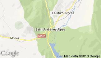 Plan de Saint-André-les-Alpes