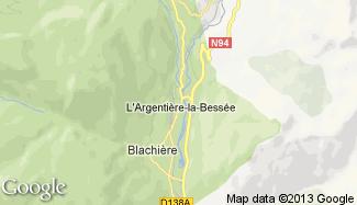 Plan de L'Argentière-la-Bessée
