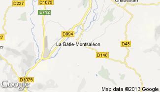 Plan de La Bâtie-Montsaléon