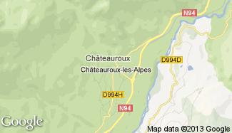 Plan de Châteauroux-les-Alpes