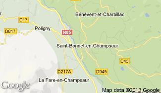Plan de Saint-Bonnet-en-Champsaur