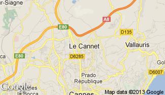 Plan de Le Cannet