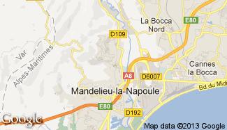 Plan de Mandelieu-la-Napoule