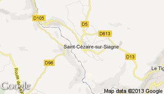Plan de Saint-Cézaire-sur-Siagne