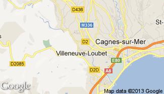 Plan de Villeneuve-Loubet